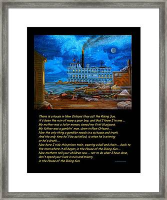 House Of The Rising Sun Framed Print