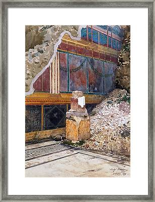 House Of The Silver Wedding, Damaged Framed Print by Luigi Bazzani