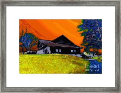 House On A Hill Framed Print
