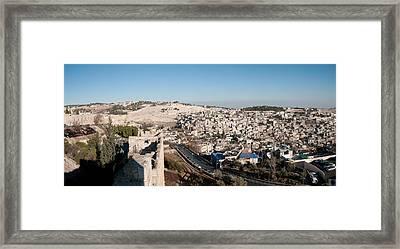 House On A Hill, Mount Of Olives Framed Print