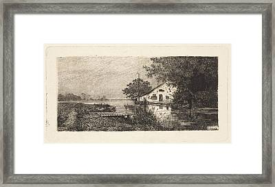 House On A River Abcoude The Netherlands Framed Print