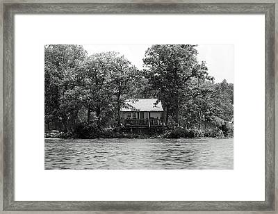 House On An Island Framed Print by Thomas Fouch