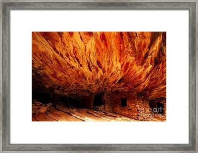 House On Fire Ruin Utah Framed Print by Bob Christopher