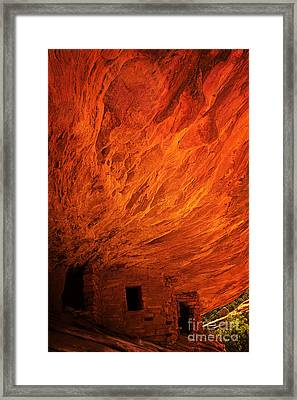 House On Fire Ruins Framed Print by Priscilla Burgers