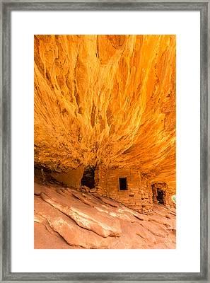 House On Fire Utah Framed Print