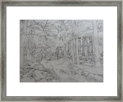 House On Grandmother Mountain Framed Print by Joel Deutsch