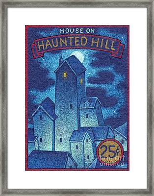 House On Haunted Hill Framed Print by Thomas Sciacca