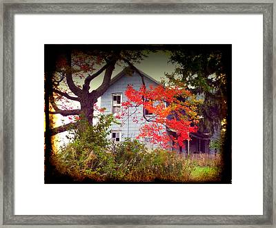 House On Hill 2 Framed Print by Michael L Kimble