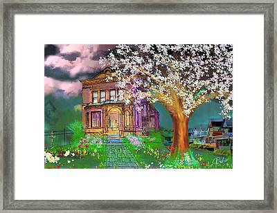House On Milbert Street Framed Print by Gerry Robins