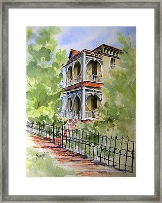 House On Spring Street Framed Print by Sam Sidders