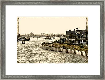House On The Bay Framed Print