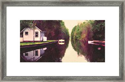 House On The C And O Canal Framed Print by Spyder Webb