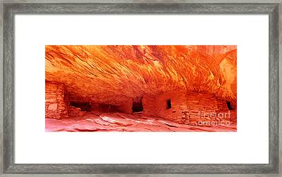 House On The Fire Framed Print