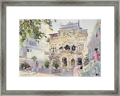 House On The Hill, Bombay Framed Print by Lucy Willis