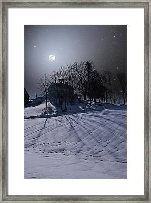 Framed Print featuring the photograph House On The Hill by Larry Landolfi