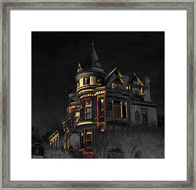House On The Hill Framed Print by Liane Wright