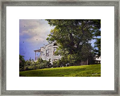 House On The Hill Framed Print by Madeline Ellis