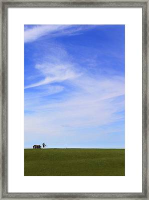 House On The Hill Framed Print by Mike McGlothlen
