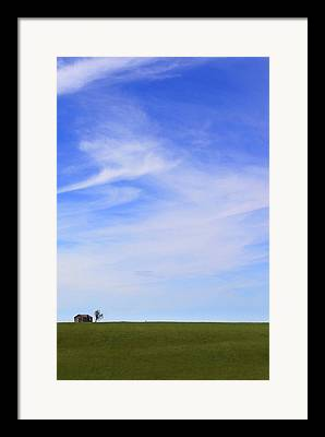 House On The Hill Framed Prints