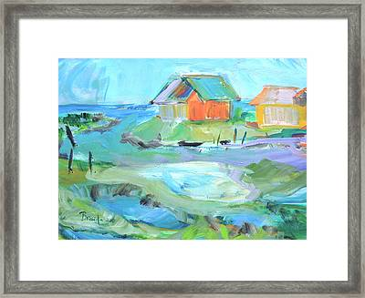 Inlet At Salt Ponds  Framed Print by Brenda Ruark