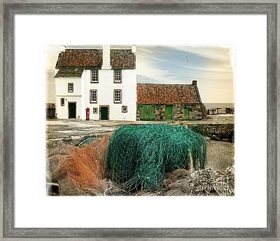 House On The Quay Framed Print by Edmund Nagele