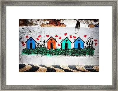 House On The Wall Framed Print by John Rizzuto
