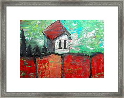 House On Top Of The Ridge II Framed Print by Laura Carter