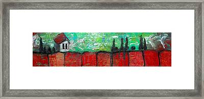 House On Top Of The Ridge Framed Print by Laura Carter