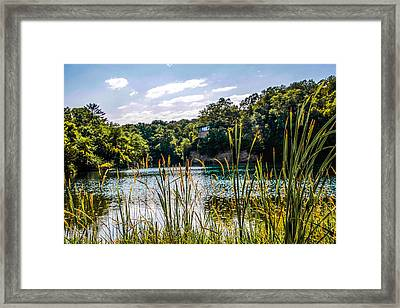 Framed Print featuring the photograph House Over The Quarry  by Ray Congrove