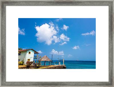 House Overlooking The Sea Framed Print by Jess Kraft