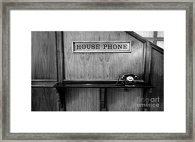 House Phone Framed Print