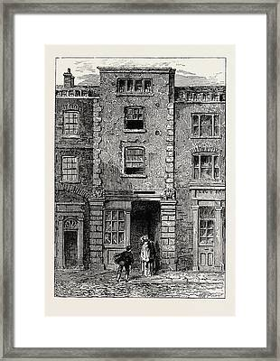House Said To Have Been Occupied By Dryden In Fetter Lane Framed Print by English School