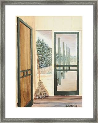 House Swept Framed Print