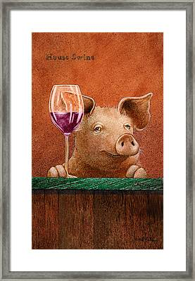 House Swine... Framed Print