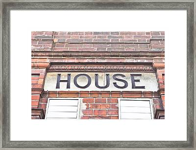House Framed Print by Tom Gowanlock