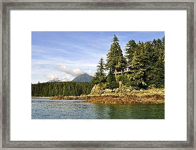 Framed Print featuring the photograph House Upon A Rock by Cathy Mahnke