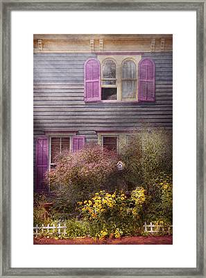 House - Victorian - A House To Call My Own  Framed Print by Mike Savad