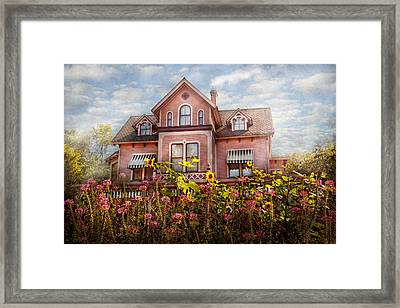 House - Victorian - Summer Cottage  Framed Print by Mike Savad