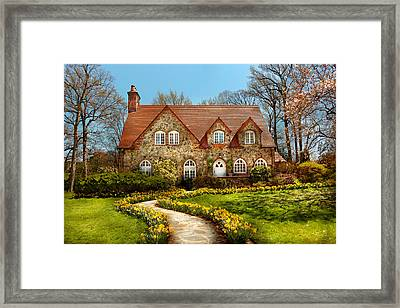 House - Westfield Nj - The Estates  Framed Print by Mike Savad