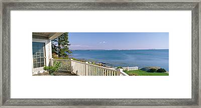 House With A View Of Spruce Head Framed Print by Panoramic Images