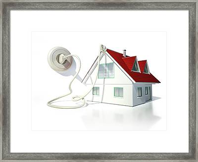 House With An Electrical Socket Framed Print by Leonello Calvetti