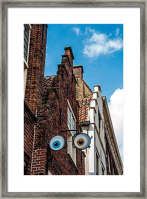 House With Eyes. Brielle. Netherlands Framed Print
