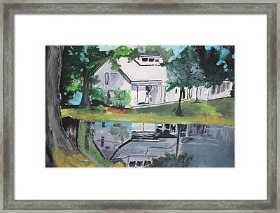 House With Lush Green Surroundings Framed Print