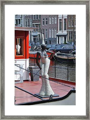 Framed Print featuring the photograph Houseboat Chanteuse by Allen Beatty