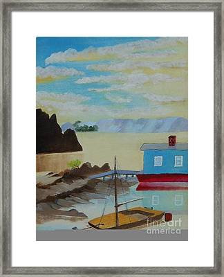 Houseboat Harbor Framed Print