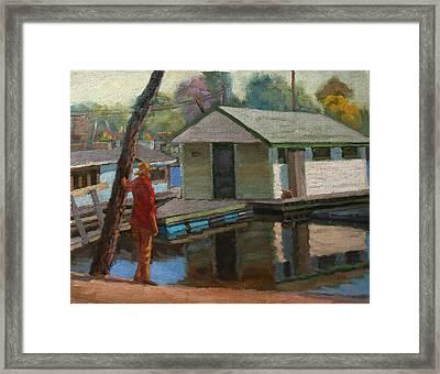 Houseboat On The Mississippi Framed Print