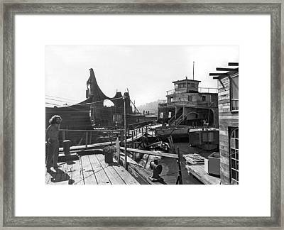 Houseboats In Sausalito Framed Print