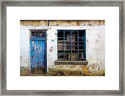 Housefront Turkey Framed Print by Tarkan Rosenberg