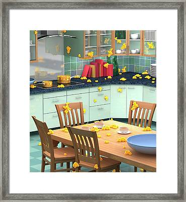 Household Bacteria Cross-contamination Framed Print by Animated Healthcare Ltd