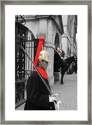 Household Cavalry Guards  Framed Print
